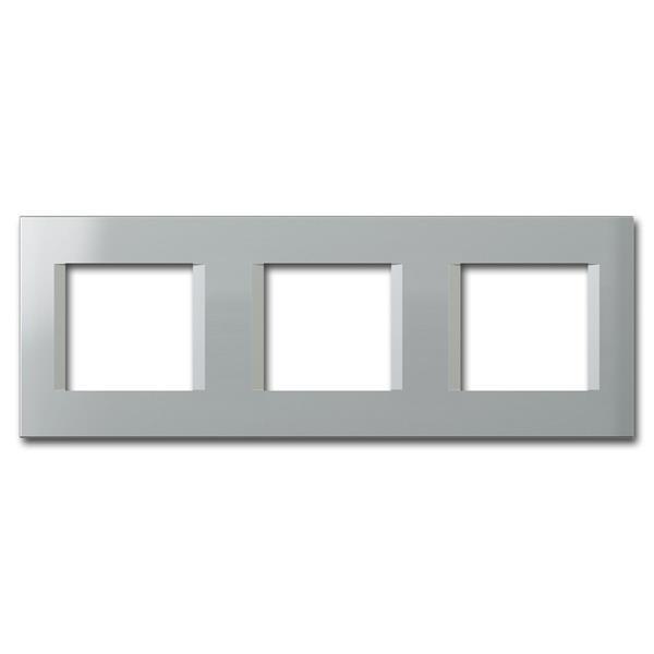 MODUL-PLUS 3-fach UP-Rahmen, Silber-Elox, line