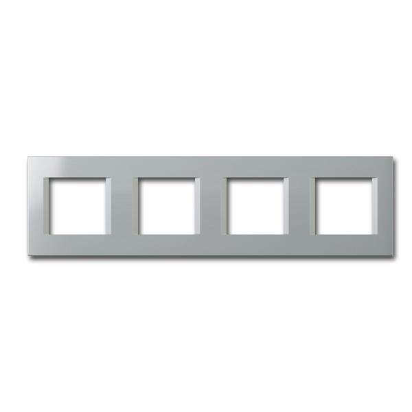 MODUL-PLUS 4-fach UP-Rahmen, Silber-Elox, line