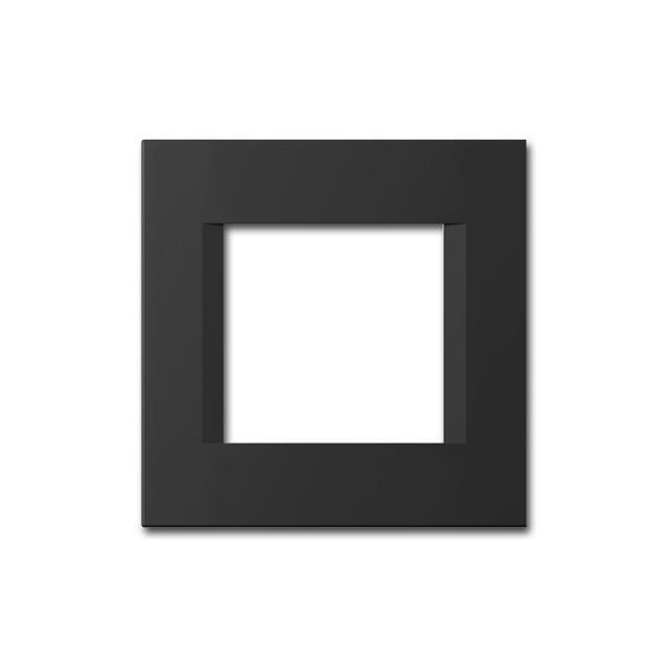 MODUL-PLUS 1-fach UP-Rahmen, Schwarz-Matt, line