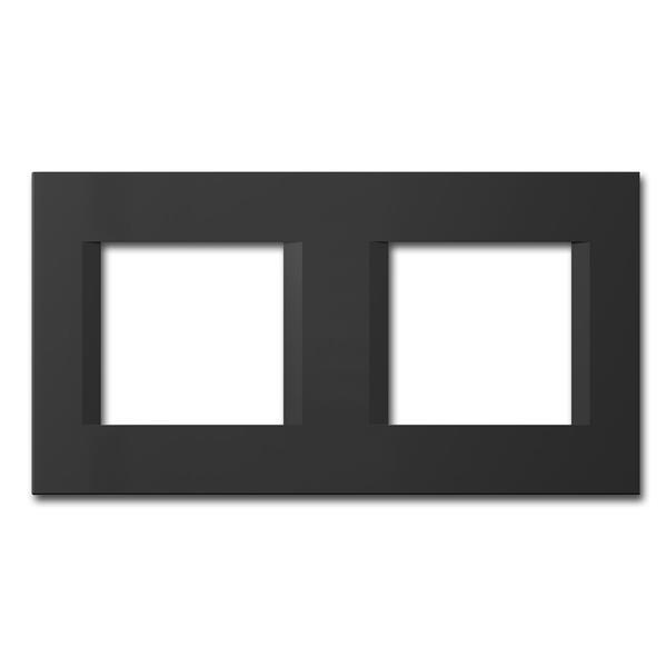 MODUL-PLUS 2-fach UP-Rahmen, Schwarz-Matt, line