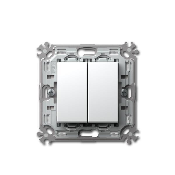 MODUL-PLUS Doppel-Wechsel-Schalter weiß, 250V~/16A