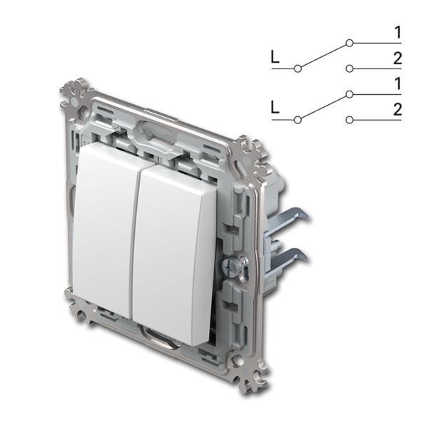 Metallgrundrahmen, ohne UP-Rahmen, Schraubklemmen