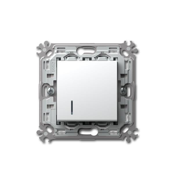 MODUL-PLUS Kontroll-Taster, weiß, 250V~/16A, UP