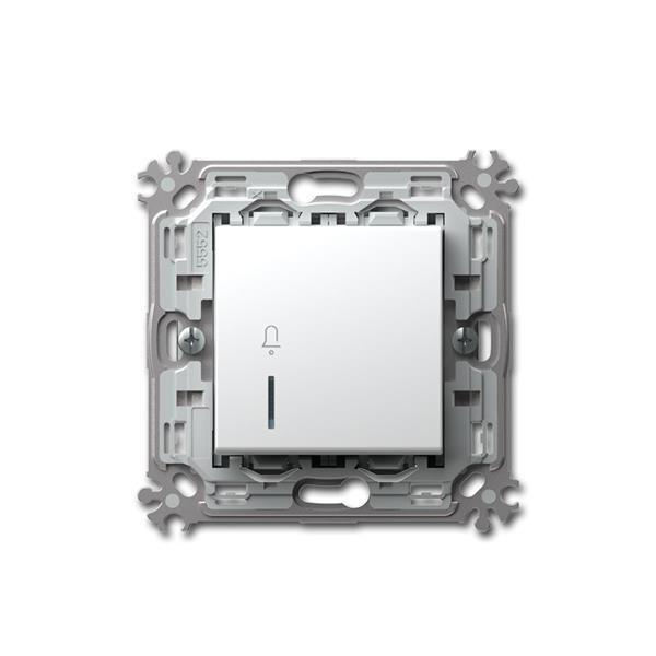 MODUL-PLUS Klingel-Taster, weiß, 250V~/16A, UP