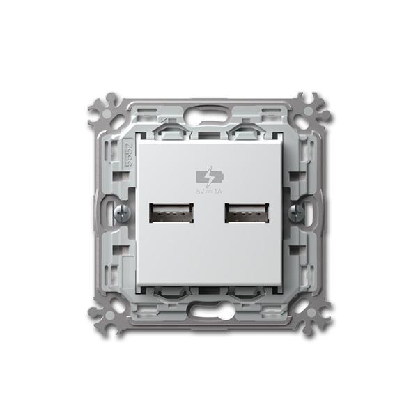 MODUL-PLUS 2-fach USB Ladesteckdose weiß 5V/1A