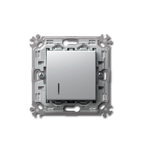 MODUL-PLUS Kontroll-Schalter, silber, 250V~/16A UP