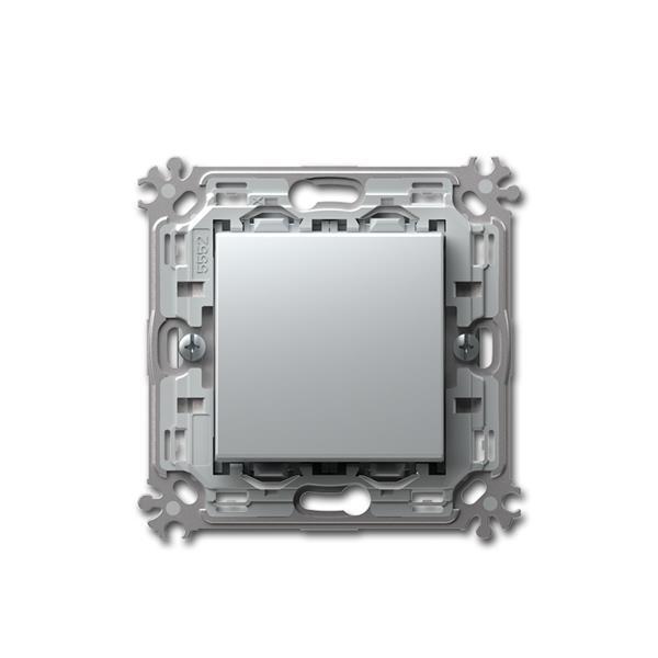 MODUL-PLUS Kreuz-Schalter, silber, 250V~/16A, UP