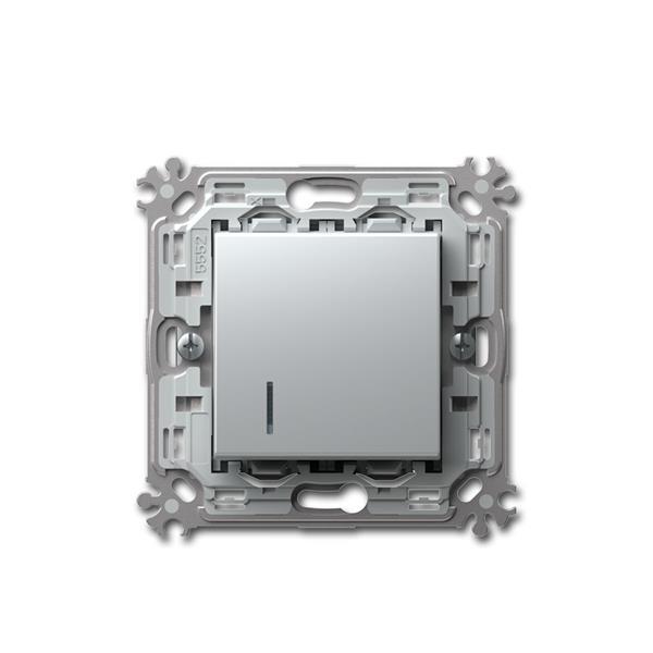 MODUL-PLUS Kontroll-Taster, silber, 250V~/16A, UP
