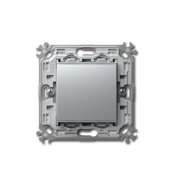 MODUL-PLUS LED-Dimmer-Schalter, silber, MASTER