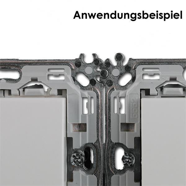 kann in gängige Schalter- und Hohlraumdosen integriert werden kann