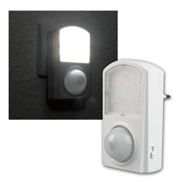LED Nachtlicht mit Bewegungsmelder, 6 LEDs 120°, 1W