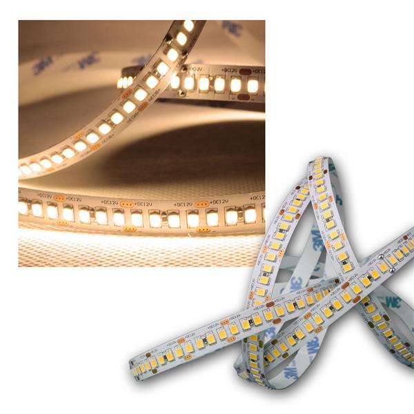 5m LED Lichtband 208 SMD/m warm weiß, 1950lm/m, 12V