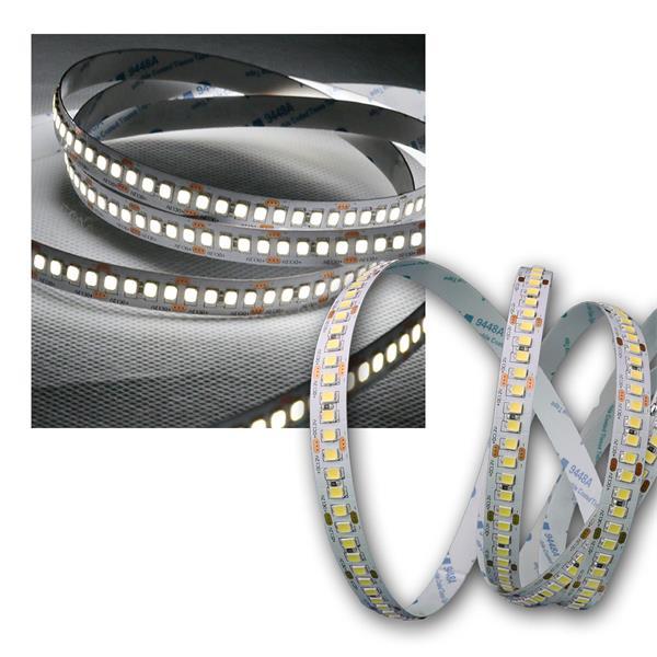 5m LED Lichtband 208 SMD/m kalt weiß, 2100lm/m, 12V