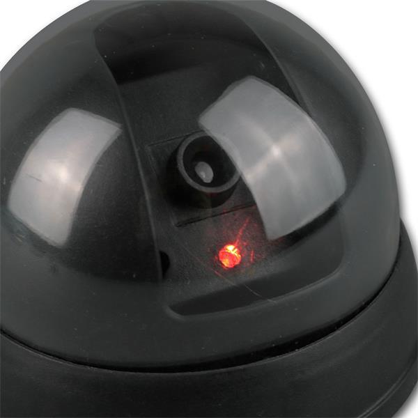Attrappe besitzt eine rot blinkende LED