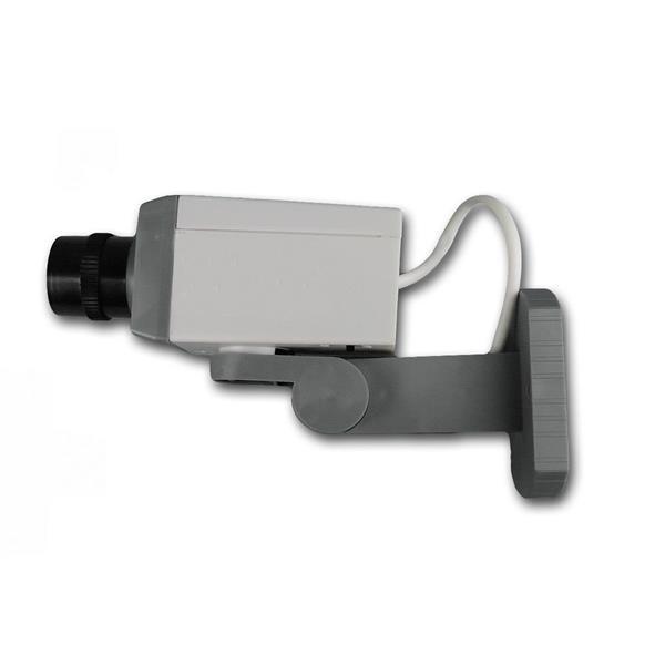 durch Fake-Linse kaum von einer echten Überwachungskamera zu unterscheiden