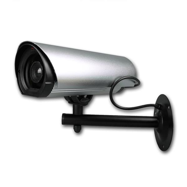 Kamera-Attrappe Dummy Pro Alu rot blinkende LED