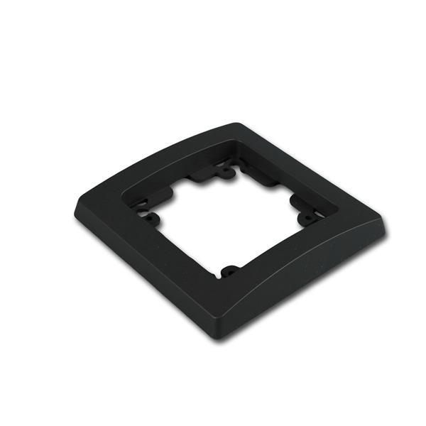 DELPHI 1-fach Rahmen matt-schwarz Steckdosenrahmen
