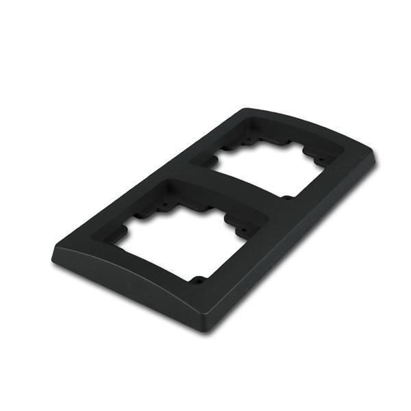 DELPHI 2-fach Rahmen matt-schwarz Steckdosenrahmen