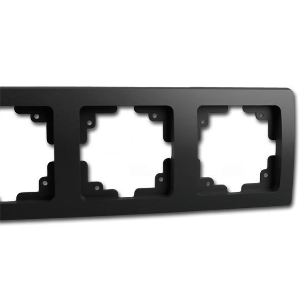 Schalterblende 3-fach matt-schwarz leicht kombinierbar mit Produkten der DELPHI-Serie