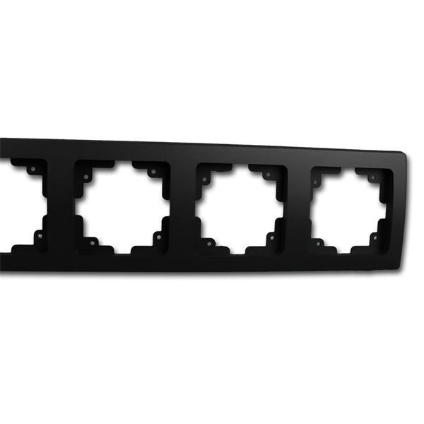 Schalterblende 4-fach matt-schwarz leicht kombinierbar mit Produkten der DELPHI-Serie