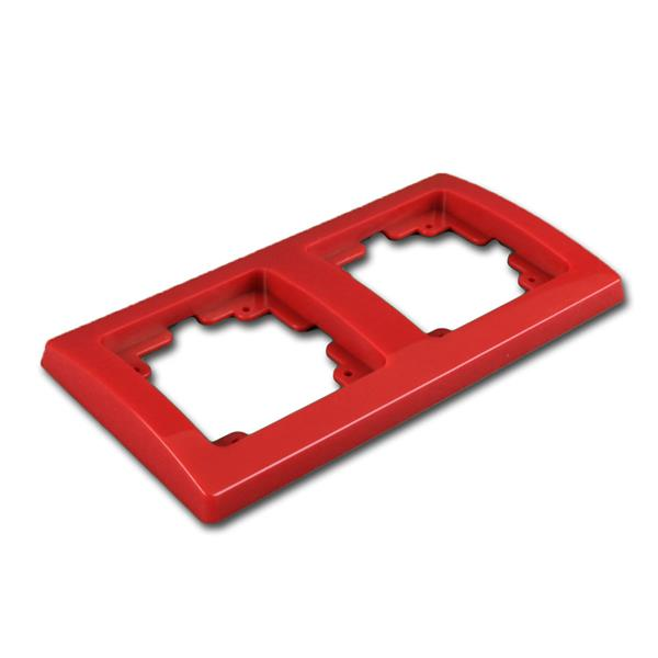 DELPHI 2-fach Rahmen rot, UP-Steckdosenrahmen