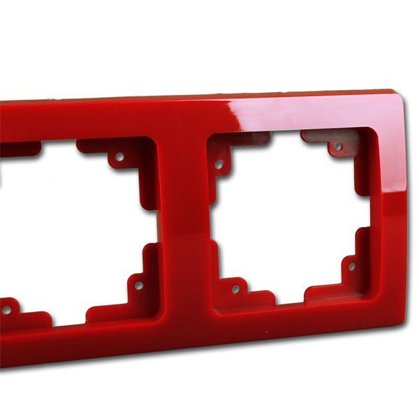 Schalterblende 2-fach rot leicht kombinierbar mit Produkten der DELPHI-Serie