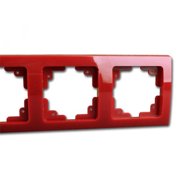 Schalterblende 3-fach rot leicht kombinierbar mit Produkten der DELPHI-Serie