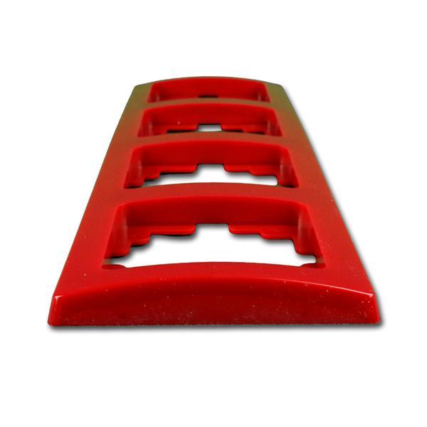 Abdeckrahmen rot ist ein Bestandteil der Elektro-Installationsserie DELPHI
