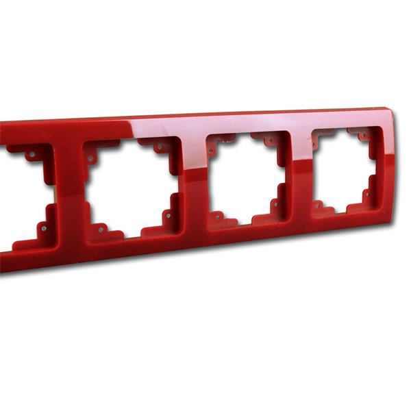 Schalterblende 4-fach rot leicht kombinierbar mit Produkten der DELPHI-Serie