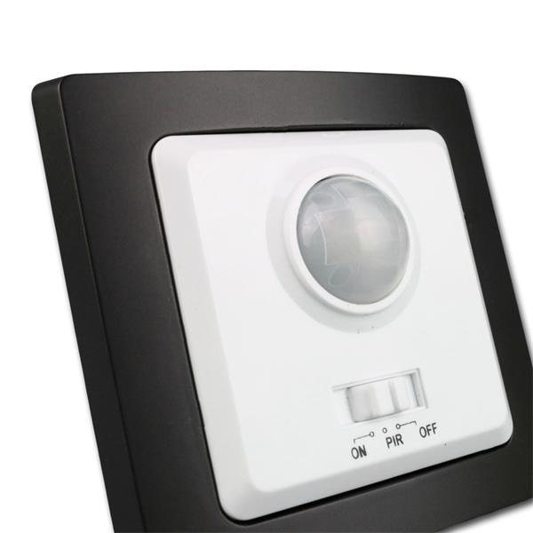 Unterputmontage, wahlweise mit weißem oder schwarzen Rahmen