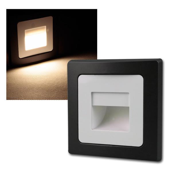 DELPHI  Einbauleuchte schwarz/weiß COB LED 230V