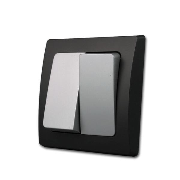 DELPHI Serien-Schalter schwarz/silber 250V/10A