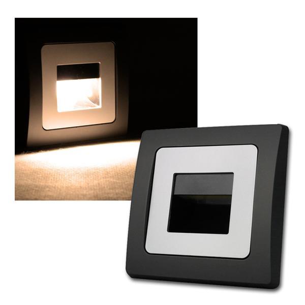DELPHI  Einbauleuchte schwarz/silber COB LED 230V