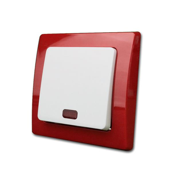 DELPHI Kontroll-Schalter, rot/weiß, 250V~/10A, UP