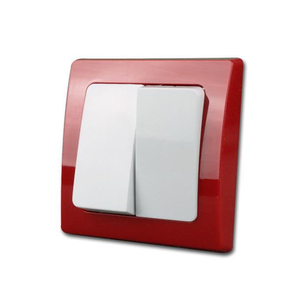 DELPHI Serien-Schalter, rot/weiß, 250V~/10A, UP