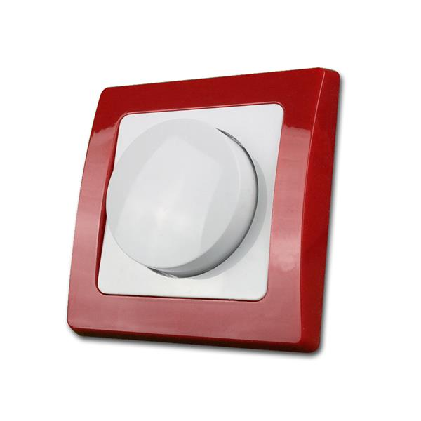 DELPHI Dimmer-Schalter, rot/weiß, 250V~/300W, UP
