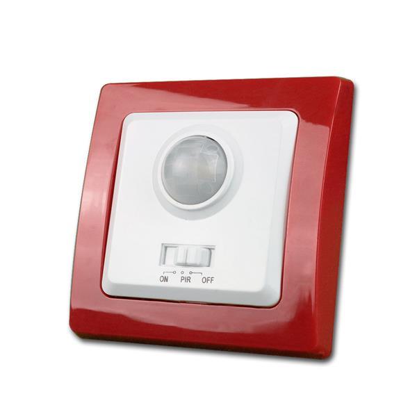 DELPHI Bewegungsmelder, rot/weiß, 250V~/400W, UP