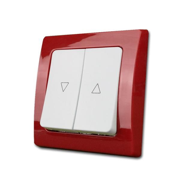 DELPHI Jalousien-Steuerung, rot/weiß, Taster, UP