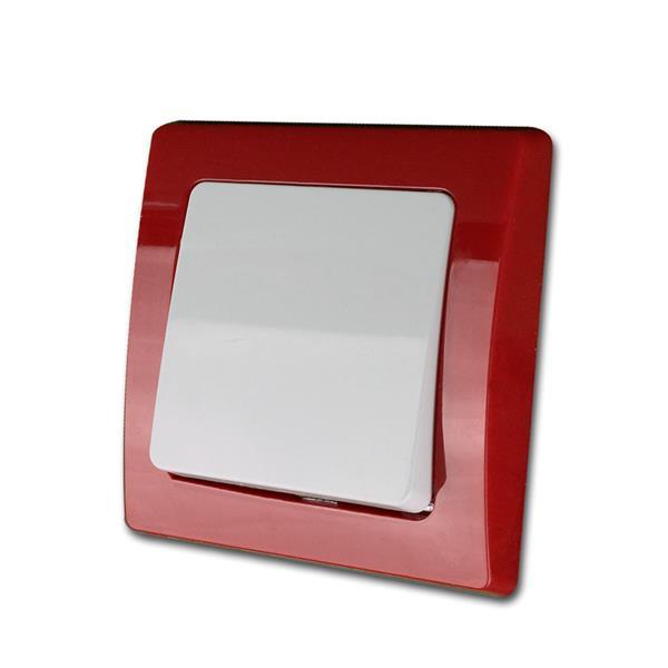 DELPHI Taster, rot/weiß, 250V~/10A, UP, unterputz
