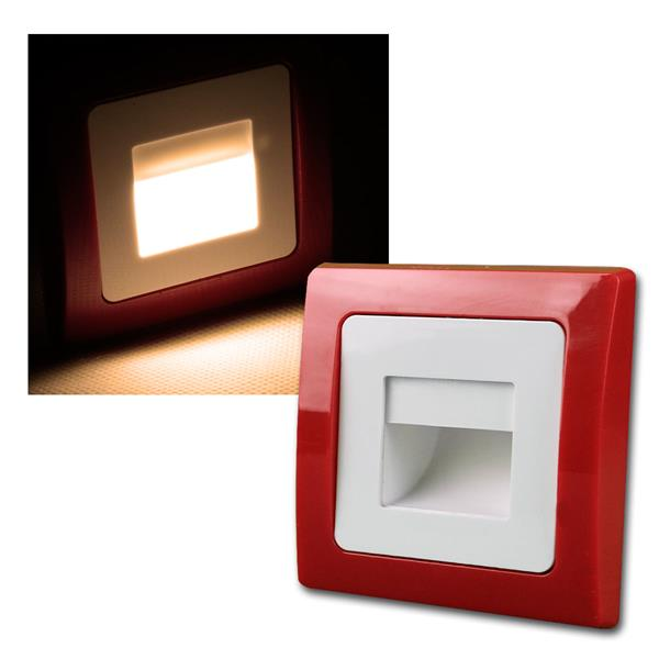 DELPHI  Einbauleuchte, rot/weiß, COB LED, 230V, UP
