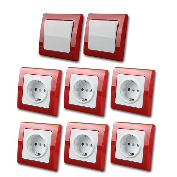 DELPHI  Starter-Kit, rot/weiß, 8teilg, 230V~/16A