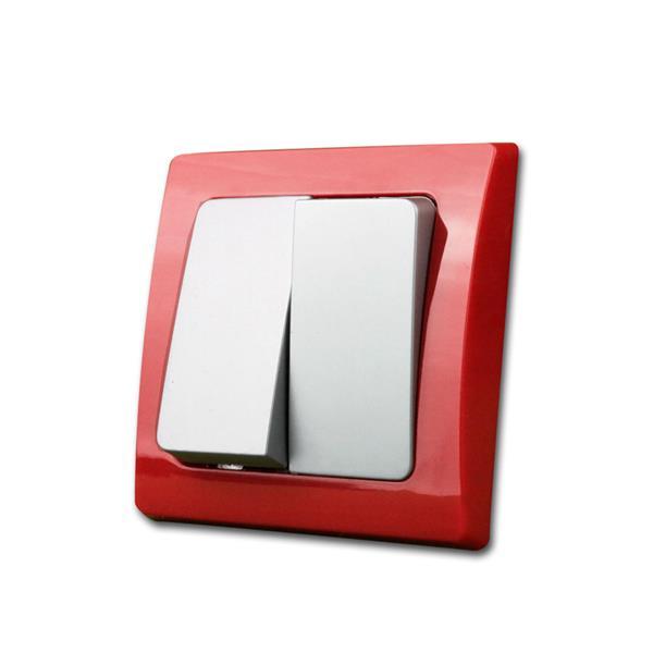 DELPHI Serien-Schalter, rot/silber, 250V~/10A, UP