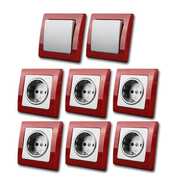 DELPHI  Starter-Kit, rot/silber, 8teilg, 230V/16A