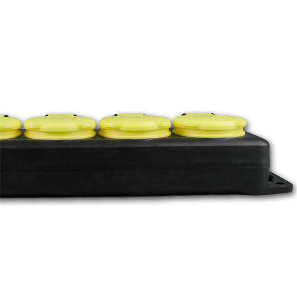 Steckdosenleiste mit 4 Steckdosen und Klappdeckel