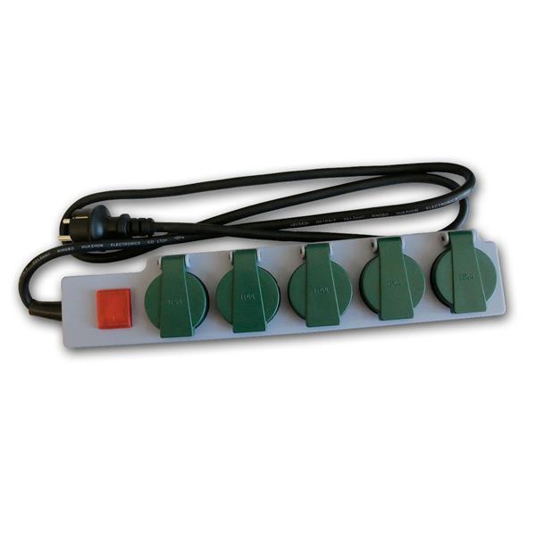 Steckdosenleiste für Außen, 5-fach 250V/16A, IP44