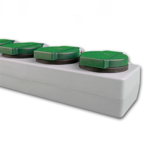 Steckdosenleiste mit 5 Steckdosen und Klappdeckel