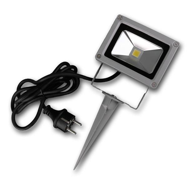LED Fluter im rostfreien IP44 Gehäuse und Erdspieß