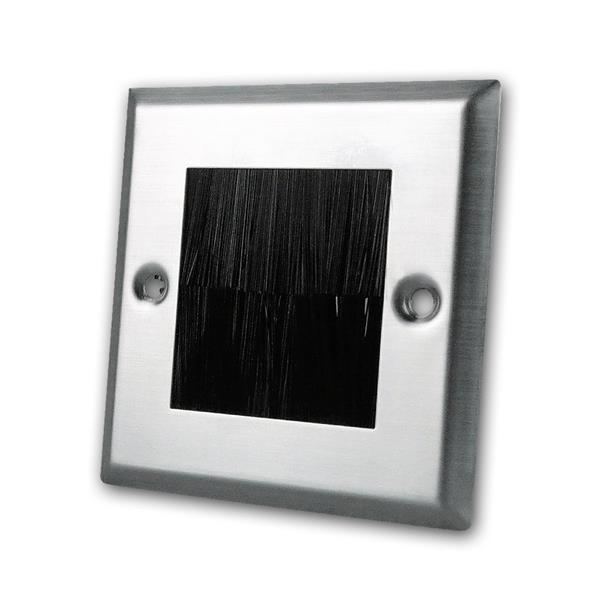 Wand-Anschlussblende Edelstahl Flexibler Ausgang