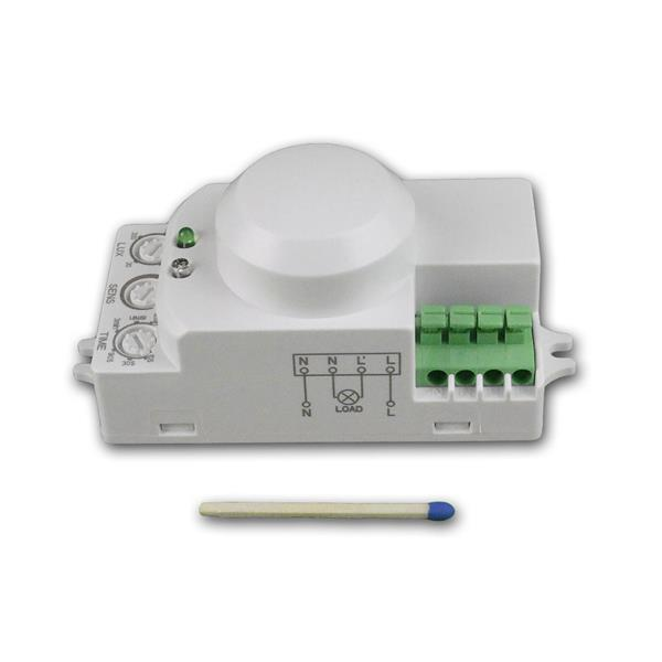 kleiner und kompakter Mikrowellen Bewegungsmelder auch für LEDs geeignet