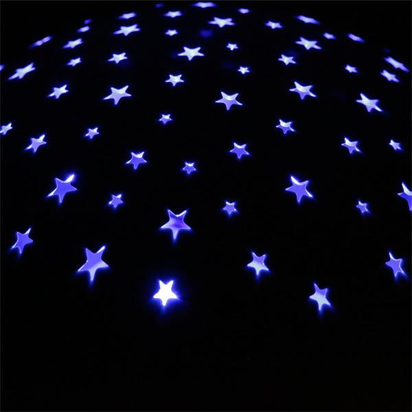 LED Nachtlicht mit goldenen, grünen und blauen Sternen
